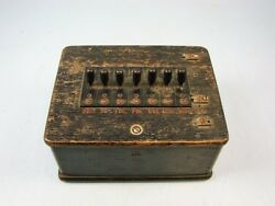 EARLY GE TELEPHONE MILITARY SWITCHBOARD JUNCTION BOX CLOTH WIRED A63 COILS