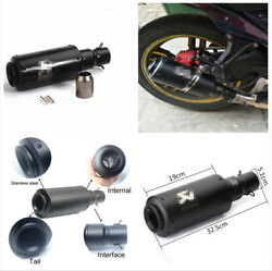 51MM Black Stainless Steel Modified Motorcycle Exhaust Pipe Muffler+Accessories