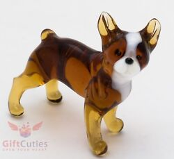 Art Blown Glass Figurine of the French Bulldog dog