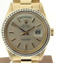 RARE Rolex Day-Date President 1802 18k Yellow Gold 1 Million Serial with Box