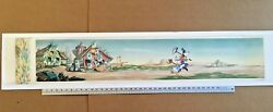 4' Pan Production Background BILL POSTERS 1940 Disney cel Whistle While You Work