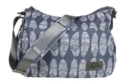 Crossbody Diaper Bag Stroller Straps Changing Pad Grey Washable Moms Baby Purse $34.99