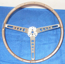 1965 1966 Mustang Fastback Coupe Gt Conv Shelby Orig Deluxe Wood Steering Wheel
