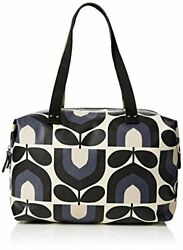 Orla Kiely Womens Zip Shopper Messenger Bag Blue Dusk