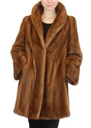 LLarge DARK PASTELWILD-TYPE MINK FUR COAT! Great Color & Design! wSTORAGE BAG