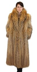 Large FINNISH RACCOON FUR COAT! Feathered Lightweight Design! wFUR STORAGE BAG $1,780.00