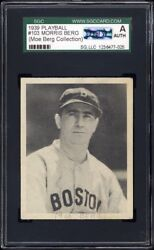 1939 Play Ball 103 Moe Berg Sgc Authentic Auth Personal Collection Pedigree