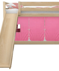 Bella Bunk Bed with Slide and Tent for Girls