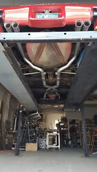 C3 1974-79 Corvette Small Block X-pipe Chambered Mufflers Mild Complete System