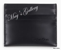 CALVIN KLEIN ID Credits Credit holder case cover card leather wallet holder CK