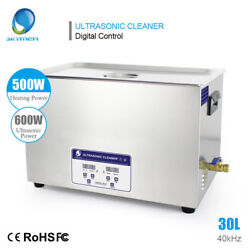Stainless Ultrasonic Cleaner Jewelry Dental Industrial Parts Heater Timed 30l