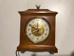 Antique Seth Thomas Ss12-0 Mantle Electric Wooden Alarm Clock For Parts