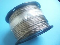 304 Stainless Steel Wire Rope Cable, 5/16, 7x19, 125 Ft Reel, Made In Korea