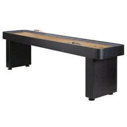 9' Black Onyx Shuffleboard Table with Climate Adjusters