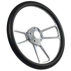 58-63.5 All Ford Excl. T-bird, Falcon, Comet Steering Wheel Kit 14 Polishe...