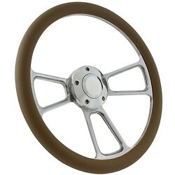 65-70 Ford Falcon, Comet Steering Wheel Kit 14 Polished Muscle Steering Whee...