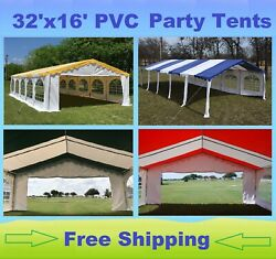 32'x16' PVC Party Tent Canopy Shelter - Color Tents- Storage Bag Sold Separately