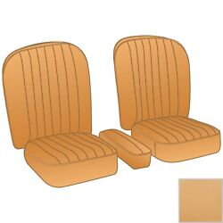 New Honey Tan Vinyl Seat Upholstery Set Material For Arm Rest Mga 1955-1962