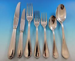 Perles By Christofle France Stainless Steel Set Service Dinner Modern New 86 Pc