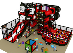 4500 sqft Commercial Indoor Playground Themed Interactive Soft Play We Finance