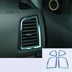 4x For Mitsubishi ASX 13-17 Blue stainless Air Conditioner Vent AC Cover Trim x