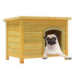 Dog House Outdoor MediumLarge Weather All Durable Shelter Kennel Dog house Wood