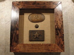 Civil War Confederate Mississippi Belt Buckles And Button Eagle And Star Buckle