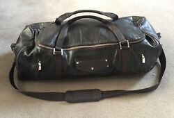 Paul and Joe Full Leather Bag Duffle Sling Messenger Brown Chocolate Backpack