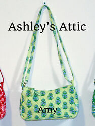 NEW Vera Bradley CITRUS GREEN Amy Little Crossbody Girl Purse Bag Kids