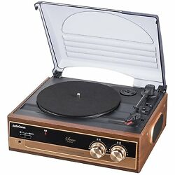 Ohm Audio Comm Lp Record Player 33.3, 45, 78 Rpm With Speaker From Japan