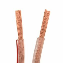 DCSk AWG 11 - 2 x 4 mm ? 50 m roll  HIFI copper loud speaker cable transparent