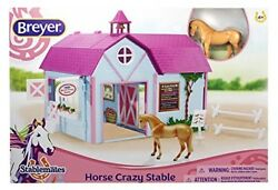 Breyer Stablemates Ultimate Barn Horse Crazy Stable Set Kids Toy For Girls Gift