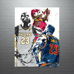 Lebron James Collage Cleveland Cavaliers Poster Free Us Shipping