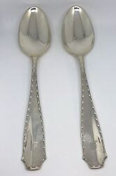 And Co. 1902 Marquis 2 Serving/ Table Spoons 8 5/8 In Sterling Silver