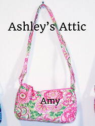 NEW Vera Bradley PETAL PINK Amy Little Crossbody Girl Purse Bag Frannie Kids