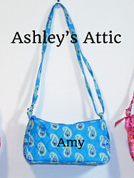 NEW Vera Bradley BERMUDA BLUE Amy Little Crossbody Girl Purse Bag Frannie Kids