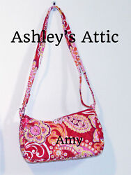 NEW Vera Bradley RASPBERRY FIZZ Amy Little Crossbody Girl Purse Bag Frannie Kids