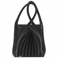 PACO RABANNE PLIAGE BLACK SUEDE LEATHER BAG