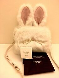 NWT Kate Spade Make Magic Rabbit Bunny Shoulder Bag Clutch Purse Sold out Rare $279.00
