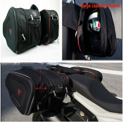 Durable Motorcycle Saddle Bags Luggage Pannier Helmet Tank Storage wRain Cover