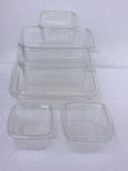 Clear Plastic Hinged Lid Salad Containers | Food/pot/tub/deli/takeaway-snack Box