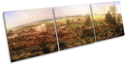 Paul Philippoteaux Gettysburg Cyclorama Picture Canvas Wall Art Triple Print