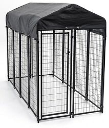 Dog Heavy Duty Cage Outdoor Pet Playpen Kennel Home Cage Large Small Medium Bed