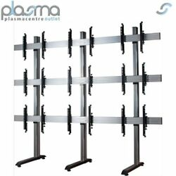B-tech System X Mobile Video Wall Mount - 3x3 For 46 Screens