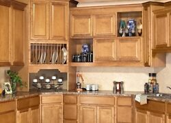 All Wood Rta 10x10 Traditional Sierra Toffee Brown Kitchen Cabinets Finger Grip