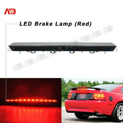 For 99-2004 Ford Mustang Smoked Red Led Third Brake Light Rear Stop Signal Lamp