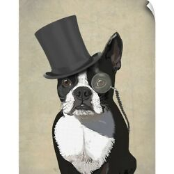 Wall Decal entitled Boston Terrier Formal Hound and Hat