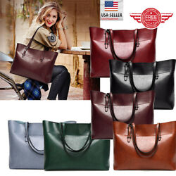 Women Leather Tote Bag Handbag Lady Purse Shoulder Messenger Satchal Bags T36