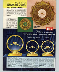 1957 Paper Ad Haddon See Thru Wall Clock Mystery Dial Golden Vision Commodore