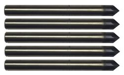 5 Pcs 1/8 4 Flute 90 Degree Carbide Chamfer Mill - Tialn Coated